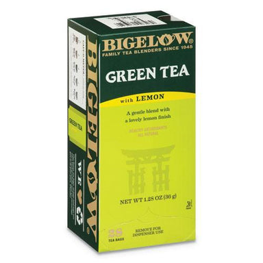 Bigelow GREEN TEA WITH LEMON, LEMON, 0.34 LBS, 28-BOX-Bigelow®-Omni Supply