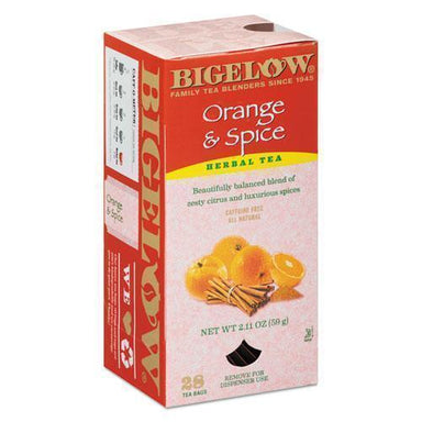 Bigelow Orange And Spice Herbal Tea, 28-box-Bigelow®-Omni Supply