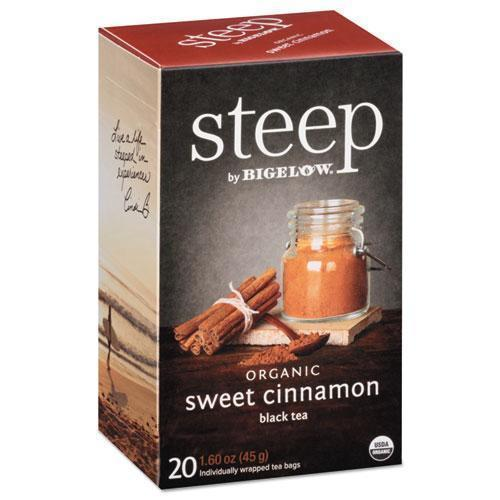 Bigelow Steep Tea, Sweet Cinnamon Black Tea, 1.6 Oz Tea Bag, 20-box-Bigelow®-Omni Supply