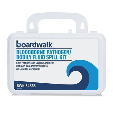 "Boardwalk Bloodborne Pathogen Kit, 30 Pieces, 3"" X 8"" X 5"", White-Boardwalk®-Omni Supply"