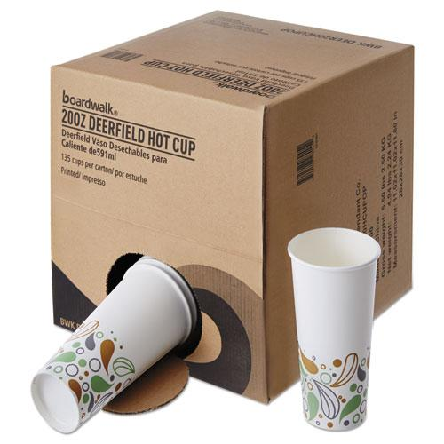Boardwalk Convenience Pack Paper Hot Cups, 20 Oz, Deerfield Print, 135-carton-Boardwalk®-Omni Supply