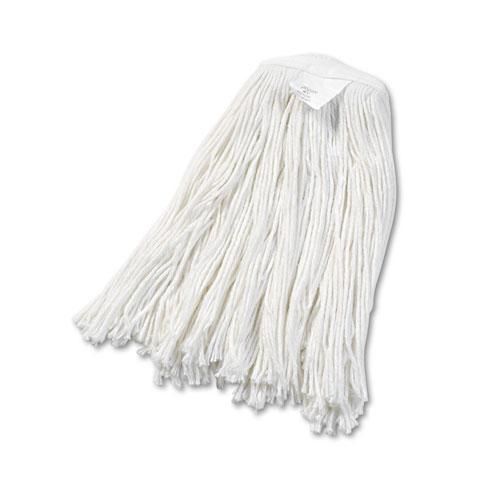 Boardwalk Cut-End Wet Mop Head, Rayon, No. 20, White, 12-carton-Boardwalk®-Omni Supply