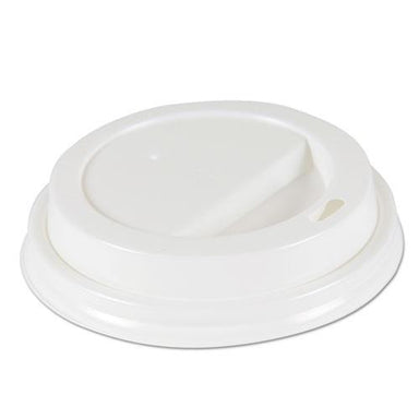 Boardwalk DEERFIELD HOT CUP LIDS FOR 10OZ - 20OZ CUPS, WHITE, PLASTIC, 50-PK, 20 PK-CARTON-Boardwalk®-Omni Supply