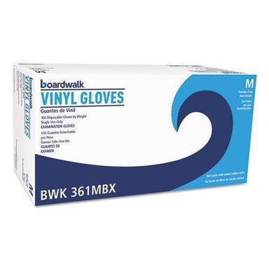 Boardwalk Exam Vinyl Gloves, Clear, Medium, 3 3-5 Mil, 1000-carton-Boardwalk®-Omni Supply