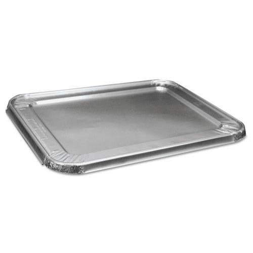 Boardwalk HALF SIZE ALUMINUM STEAM TABLE PAN LID, DEEP, 100-CARTON-Boardwalk®-Omni Supply