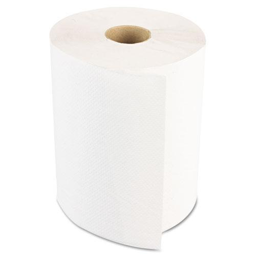 Boardwalk Hardwound Paper Towels, Nonperforated 1-Ply White, 350 Ft, 12 Rolls-carton-Boardwalk®-Omni Supply