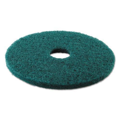 "Boardwalk HEAVY-DUTY SCRUBBING FLOOR PADS, 16"" DIAMETER, GREEN, 5-CARTON-Boardwalk®-Omni Supply"