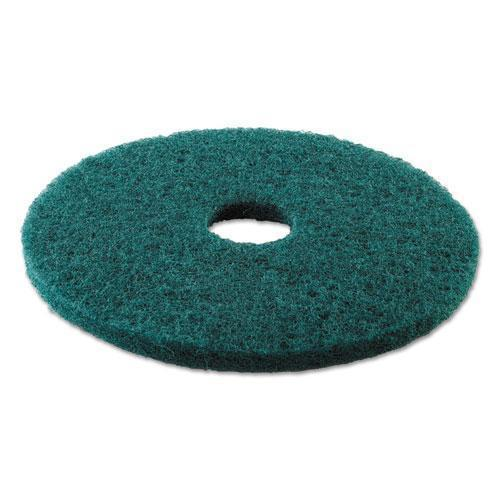 "Boardwalk HEAVY-DUTY SCRUBBING FLOOR PADS, 17"" DIAMETER, GREEN, 5-CARTON-Boardwalk®-Omni Supply"