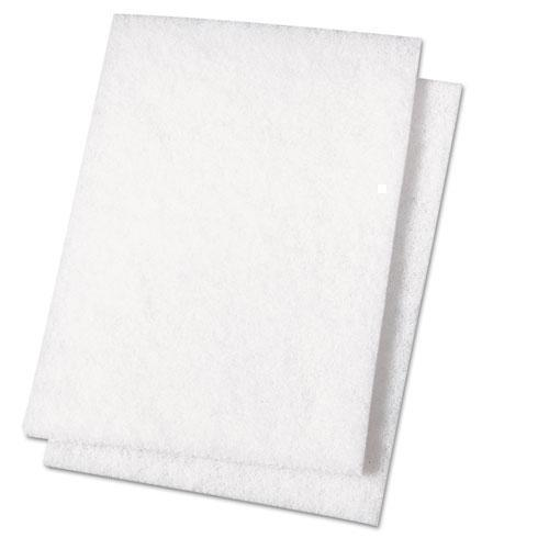 Boardwalk Light Duty Scour Pad, White, 6 X 9, 20-carton-Boardwalk®-Omni Supply