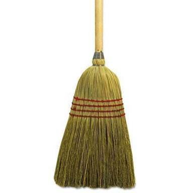 "Boardwalk MAID BROOM, MIXED FIBER BRISTLES, 55"" LONG, NATURAL-Boardwalk®-Omni Supply"