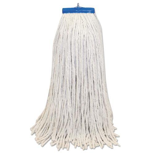 Boardwalk Mop Head, Lie-Flat Head, Cotton Fiber, 24oz., White, 12-carton-Boardwalk®-Omni Supply
