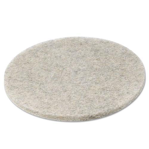 "Boardwalk NATURAL HOG HAIR BURNISHING FLOOR PADS, 20"" DIAMETER, 5-CARTON-Boardwalk®-Omni Supply"