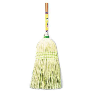 "Boardwalk Parlor Broom, Corn Fiber Bristles, 55"" Wood Handle, Natural, 12-carton-Boardwalk®-Omni Supply"