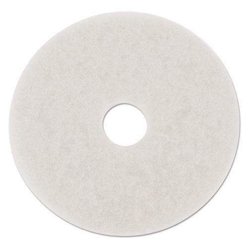 "Boardwalk POLISHING FLOOR PADS, 14"" DIAMETER, WHITE, 5-CARTON-Boardwalk®-Omni Supply"