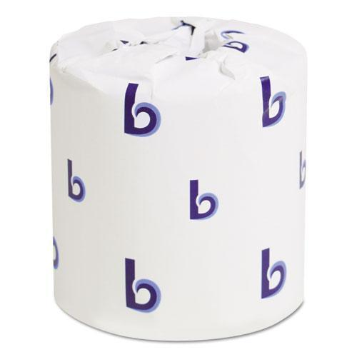 Boardwalk Two-Ply Toilet Tissue, White, 4 1-2 X 3 Sheet, 500 Sheets-roll, 96 Rolls-carton-Boardwalk®-Omni Supply