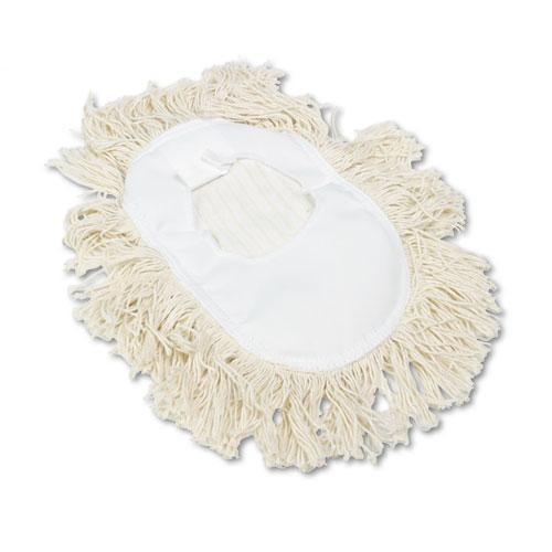Boardwalk Wedge Dust Mop Head, Cotton, 17 1-2l X 13 1-2w, White-Boardwalk®-Omni Supply