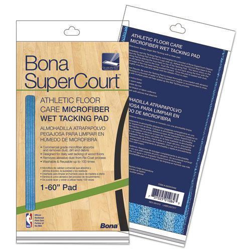 "Bona Supercourt Athletic Floor Care Microfiber Wet Tacking Pad, 60"", Light-dark Blue-Bona®-Omni Supply"