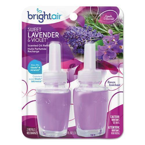 BRIGHT Air Electric Scented Oil Refill, Sweet Lavender-violet,0.67oz Jar, 2-pk, 6pk-ctn-BRIGHT Air®-Omni Supply