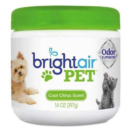 BRIGHT Air Pet Odor Eliminator, Cool Citrus, 14 Oz Jar, 6-carton-BRIGHT Air®-Omni Supply