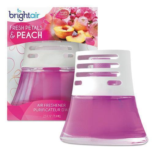 BRIGHT Air Scented Oil Air Freshener Diffuser, Fresh Petals And Peach, Pink, 2.5oz-BRIGHT Air®-Omni Supply