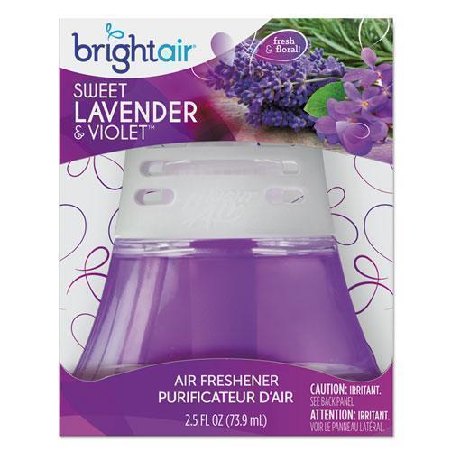 BRIGHT Air SCENTED OIL AIR FRESHENER SWEET LAVENDER AND VIOLET, 2.5 OZ, 6-CARTON-BRIGHT Air®-Omni Supply