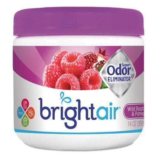 BRIGHT Air Super Odor Eliminator, Wild Raspberry & Pomegranate, 14 Oz Jar-BRIGHT Air®-Omni Supply