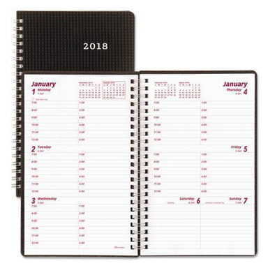 Brownline DURAFLEX WEEKLY PLANNER, 8 X 5, BLACK, 2019-Brownline®-Omni Supply