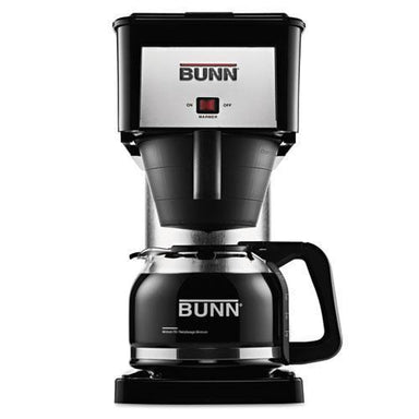 BUNN 10-Cup Velocity Brew Bx Coffee Brewer, Black, Stainless Steel-BUNN®-Omni Supply