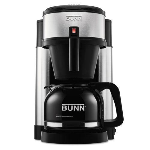 BUNN 10-Cup Velocity Brew Nhs Coffee Brewer, Black, Stainless Steel-BUNN®-Omni Supply