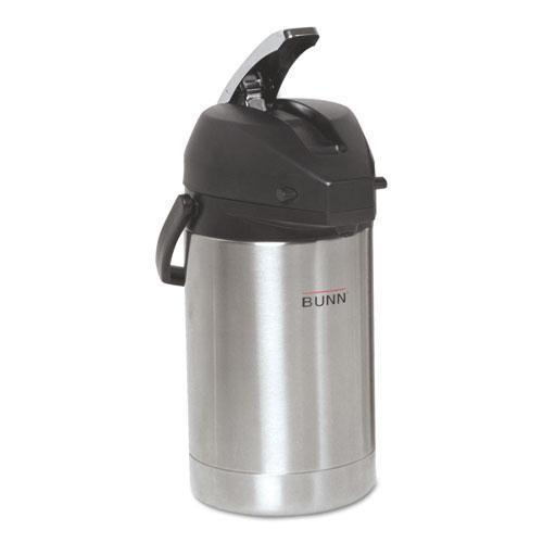 BUNN 2.5 Liter Lever Action Airpot, Stainless Steel-BUNN®-Omni Supply