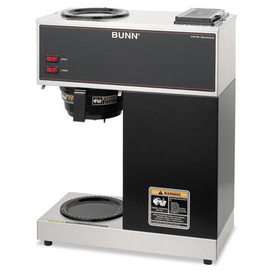 BUNN Vpr Two Burner Pourover Coffee Brewer, Stainless Steel, Black-BUNN®-Omni Supply