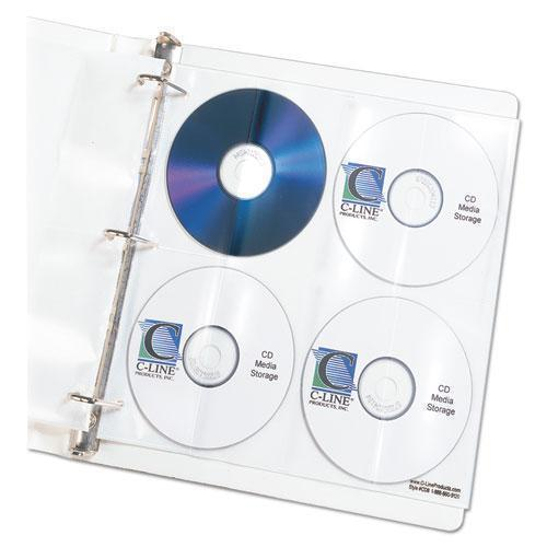 C-Line Deluxe Cd Ring Binder Storage Pages, Standard, Stores 8 Cds, 5-pk-C-Line®-Omni Supply