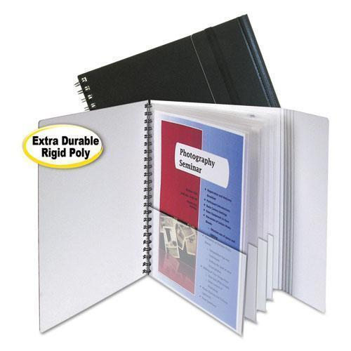 C-Line Eight-Pocket Portfolio With Security Flap, Polypropylene, 8 1-2 X 11, Black-C-Line®-Omni Supply