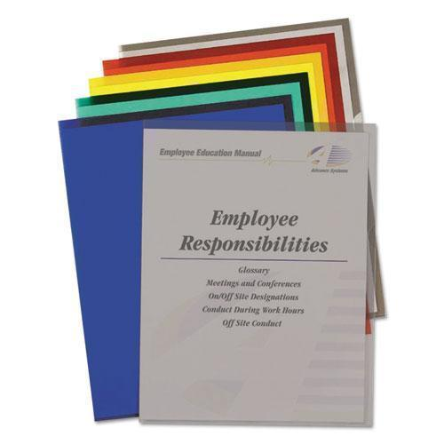 C-Line Project Folders, Jacket, Letter, Poly, Assorted Colors, 25-box-C-Line®-Omni Supply