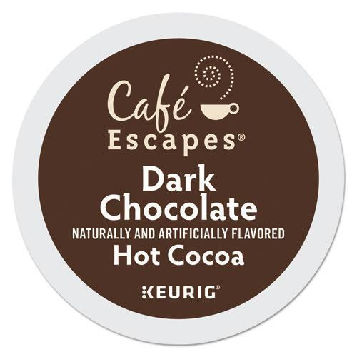 CafeEscape Cafe Escapes Dark Chocolate Hot Cocoa K-Cups, 24-box-Cafe Escapes®-Omni Supply