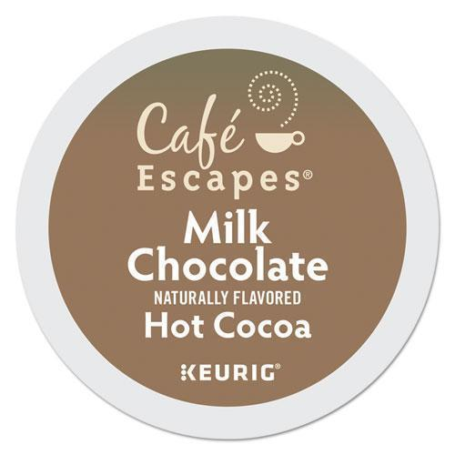 CafeEscape Cafe Escapes Milk Chocolate Hot Cocoa K-Cups, 96-carton-Cafe Escapes®-Omni Supply