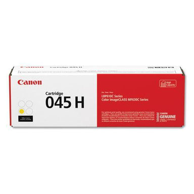 Canon 1243c001 (045) High-Yield Toner, 2200 Page-Yield, Yellow-Canon®-Omni Supply