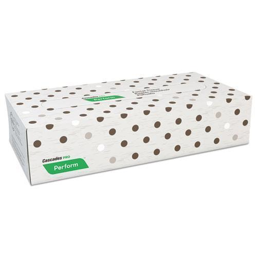 "Cascades Perform Facial Tissue, 2-Ply, Beige, 8 1-2"" X 7.5"", 100-box, 30 Boxes-carton-Cascades PRO-Omni Supply"