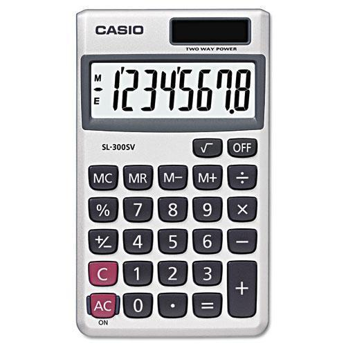 Casio Sl-300sv Handheld Calculator, 8-Digit Lcd-Casio®-Omni Supply