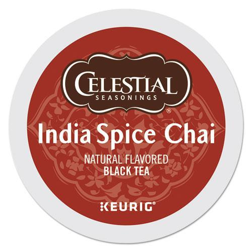 Celestial India Spice Chai Tea K-Cups, 96-carton-Celestial Seasonings®-Omni Supply