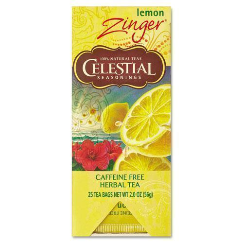 Celestial Tea, Herbal Lemon Zinger, 25-box-Celestial Seasonings®-Omni Supply