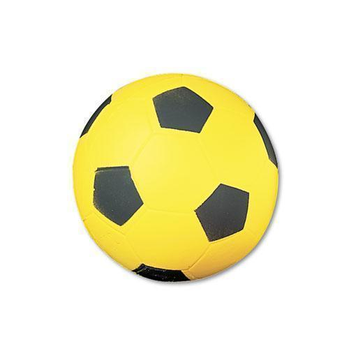 Champion Coated Foam Sport Ball, For Soccer, Playground Size, Yellow-Champion Sports-Omni Supply
