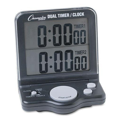Champion Dual Timer-clock W-jumbo Display, Lcd, 3 1-2 X 1 X 4 1-2-Champion Sports-Omni Supply