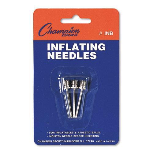 Champion Nickel-Plated Inflating Needles For Electric Inflating Pump, 3-pack-Champion Sports-Omni Supply