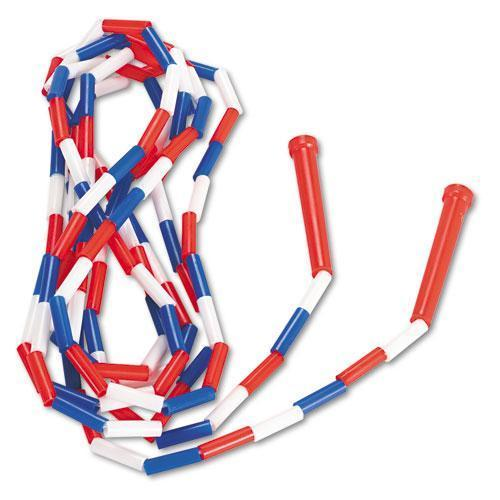 Champion Segmented Plastic Jump Rope, 16ft, Red-blue-white-Champion Sports-Omni Supply