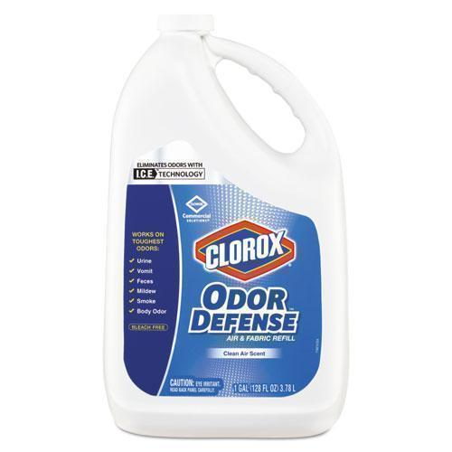 Clorox Commercial Solutions Odor Defense Air-fabric Spray, Clean Air,1gal Bottle,4-ct-Clorox®-Omni Supply
