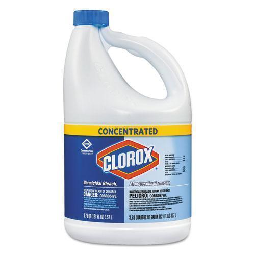 Clorox Concentrated Germicidal Bleach, Regular, 121oz Bottle, 3-carton-Clorox®-Omni Supply