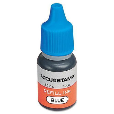 COSCO Accu-Stamp Gel Ink Refill, Blue, 0.35 Oz Bottle-COSCO-Omni Supply
