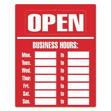 COSCO Business Hours Sign Kit, 15 X 19, Red-COSCO-Omni Supply