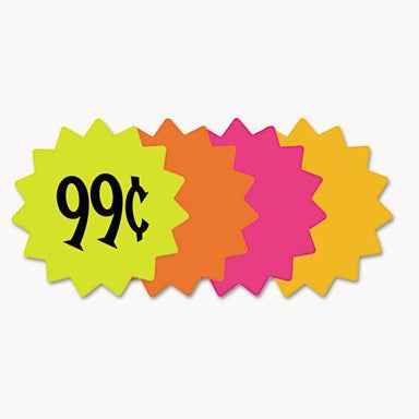 "COSCO Die Cut Paper Signs, 4"" Round, Assorted Colors, Pack Of 60 Each-COSCO-Omni Supply"